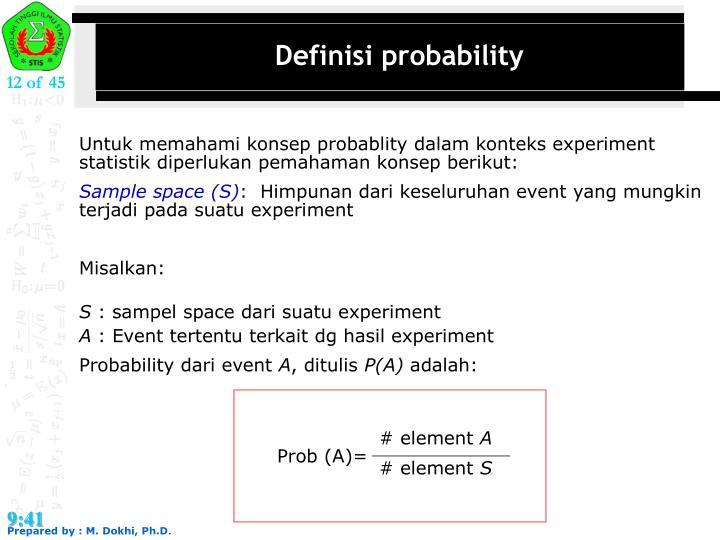 Definisi probability