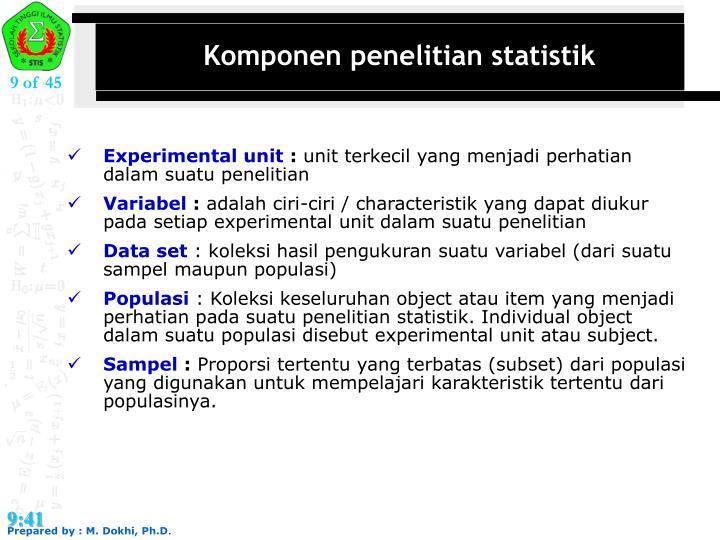 Komponen penelitian statistik