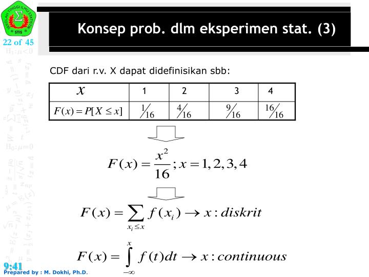 Konsep prob. dlm eksperimen stat. (3)