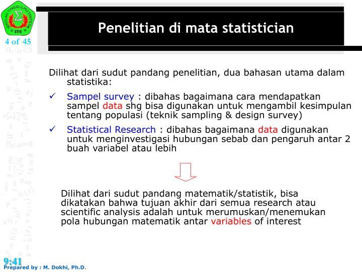 Penelitian di mata statistician
