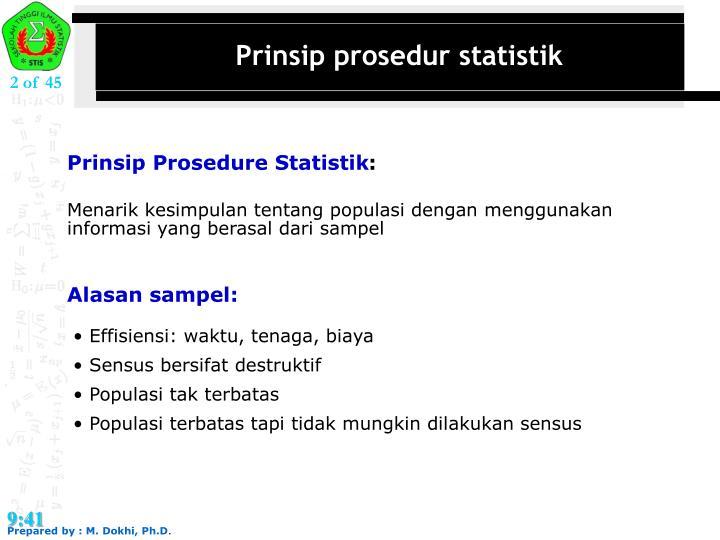 Prinsip prosedur statistik