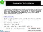 probability definisi formal
