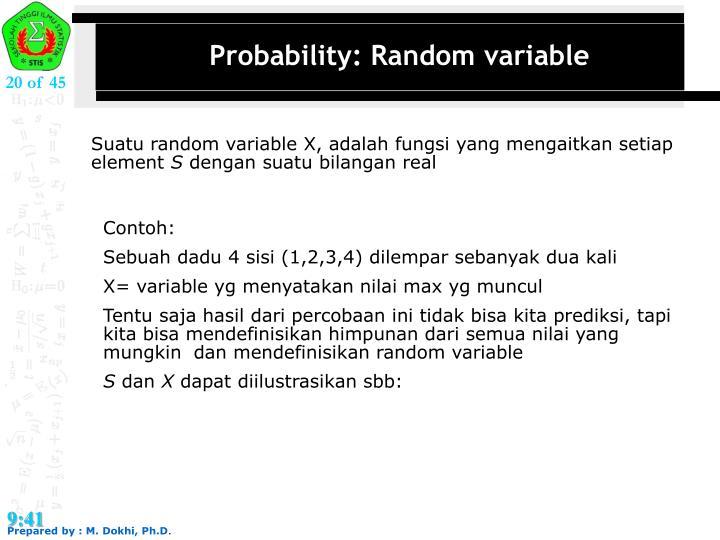 Probability: Random variable