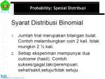 probability spesial distribusi