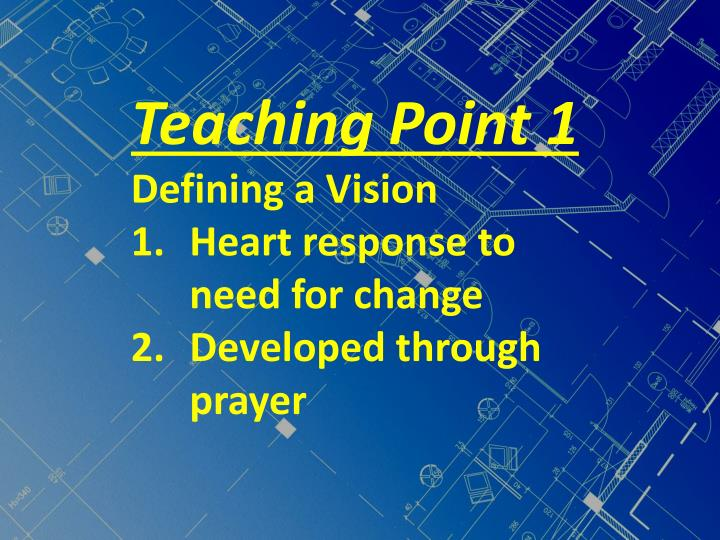 Teaching Point 1