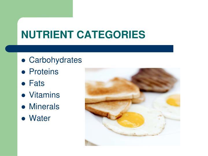 NUTRIENT CATEGORIES