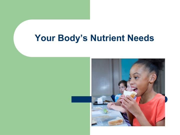 Your Body's Nutrient Needs