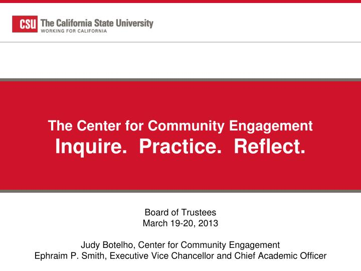 The Center for Community Engagement