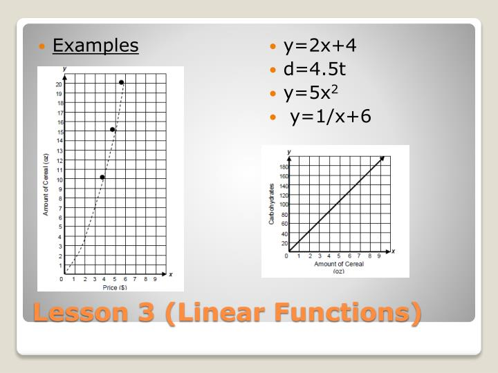 Lesson 3 linear functions1