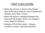 first class levers1