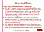 other staff roles