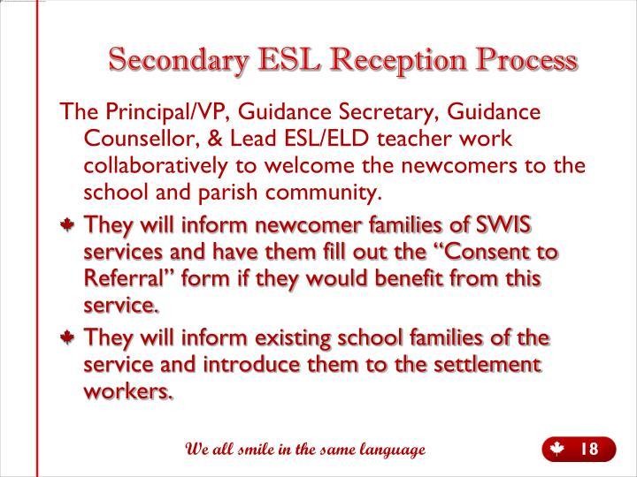 Secondary ESL Reception Process