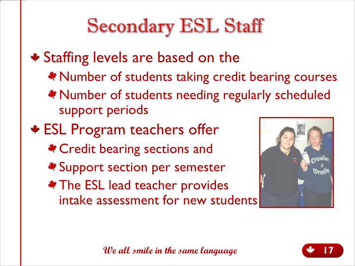 Secondary ESL Staff
