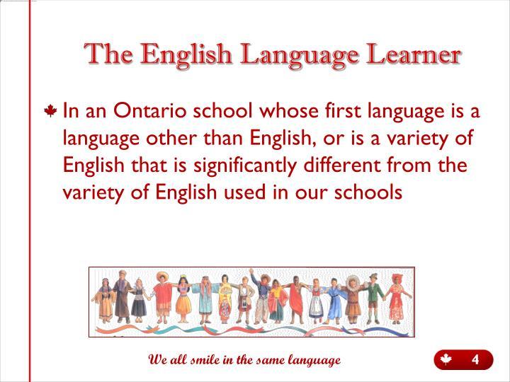 The English Language Learner