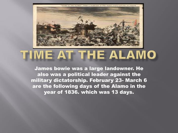 Time at the Alamo