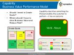 capability business value performance model