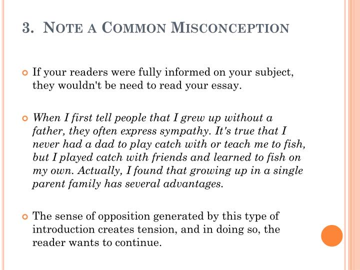 3.  Note a Common Misconception