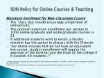 son policy for online courses teaching2