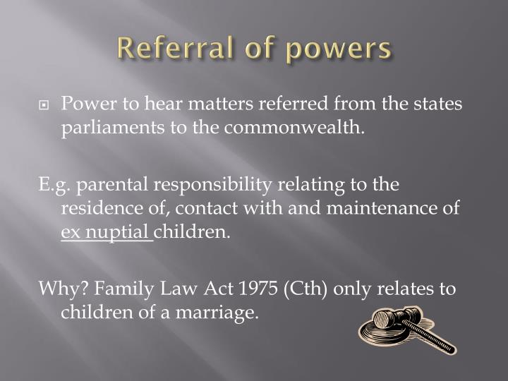 Referral of powers