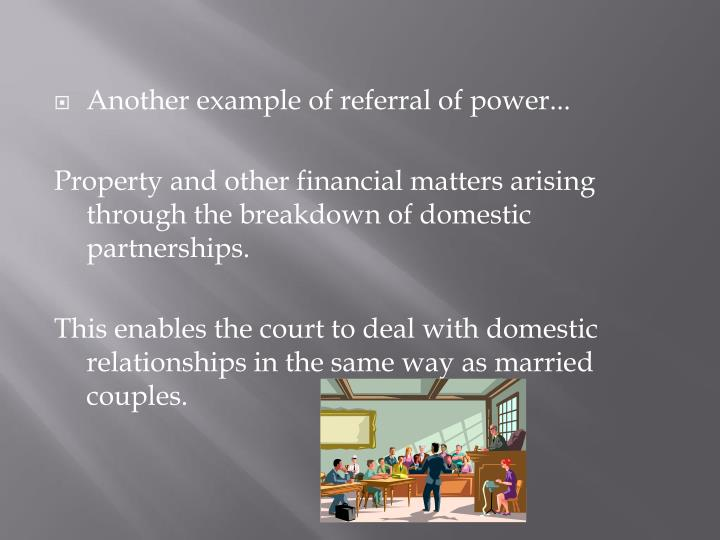 Another example of referral of power...