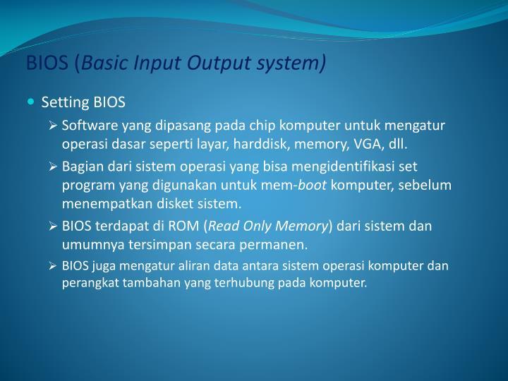 BIOS (