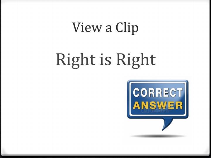 View a Clip