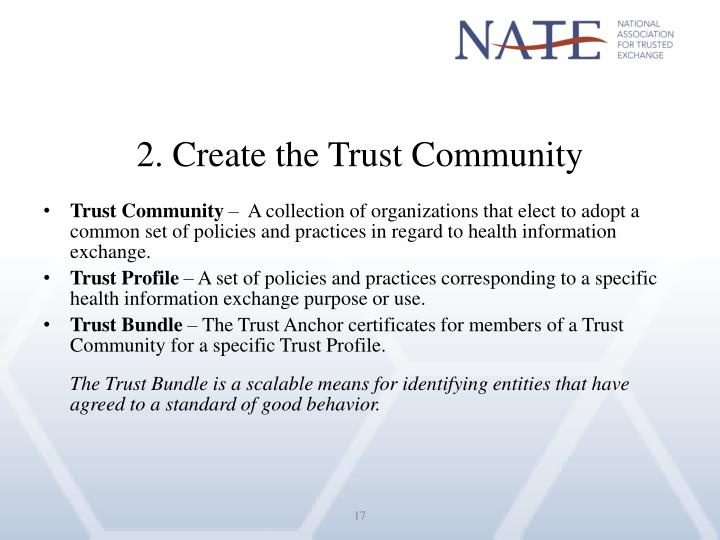 2. Create the Trust Community