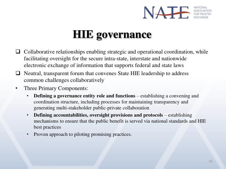 HIE governance