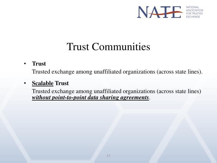 Trust Communities