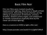 basic film noir