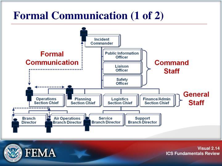 Formal Communication (1 of 2)