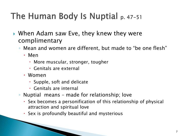 The Human Body Is Nuptial
