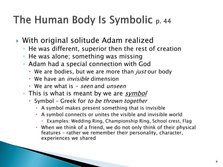 The Human Body Is Symbolic