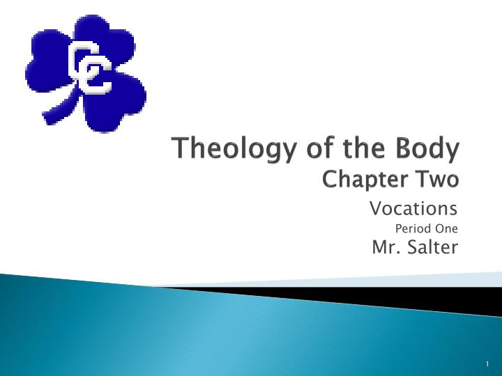 Theology of the body chapter two