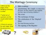the marriage ceremony1