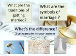 what are the traditions of getting married