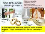 what do the symbols of marriage mean