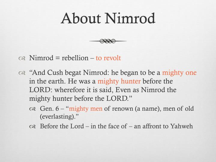 About Nimrod