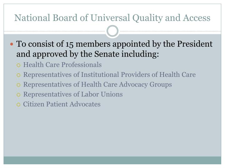 National Board of Universal Quality and Access