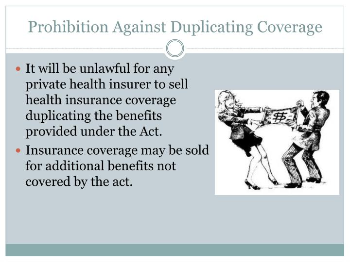 Prohibition Against Duplicating Coverage