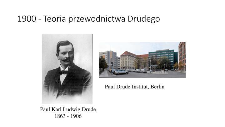 1900 - Teoria przewodnictwa Drudego
