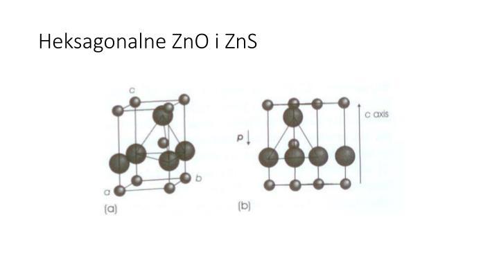 Heksagonalne ZnO i ZnS