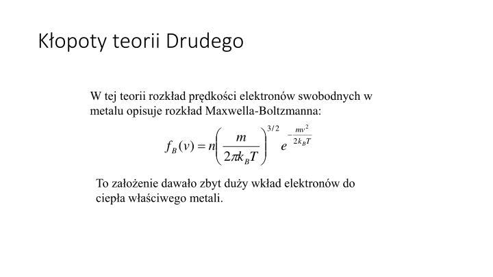 Kłopoty teorii Drudego