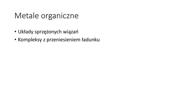 Metale organiczne