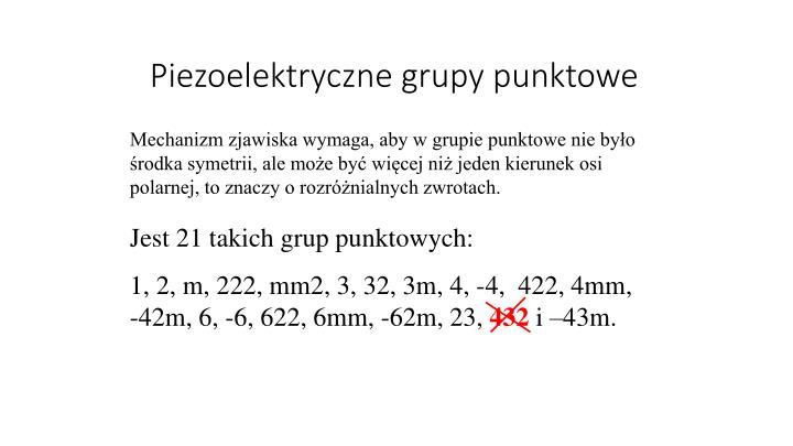 Piezoelektryczne grupy punktowe