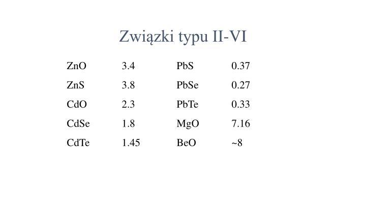 Związki typu II-VI