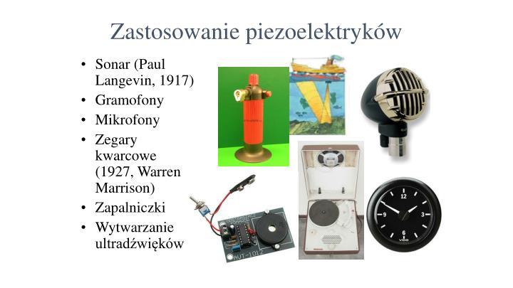 Zastosowanie piezoelektryków