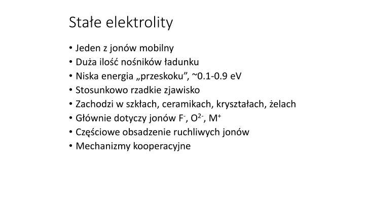 Stałe elektrolity