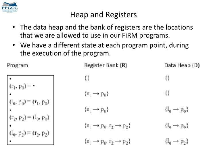 Heap and Registers
