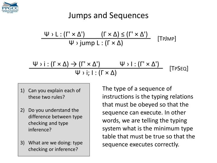 Jumps and Sequences